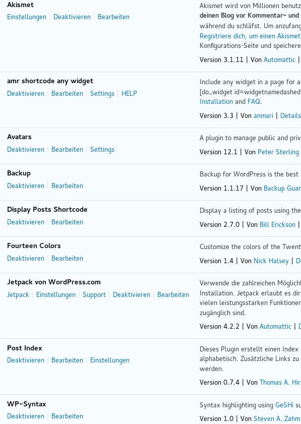 Wordpress Plugin's