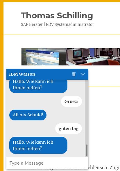 IBM Watson Chat Bot