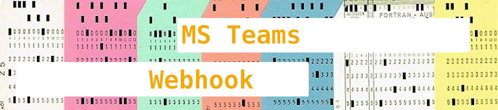 Bash: Webhooks in MS Teams