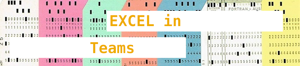 Workshop: Web Excel in Teams